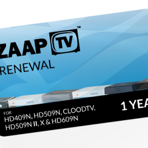 ZAAPTV 1 Year Renewal Voucher GREEK