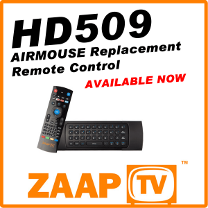 ZAAPTV HD509 Air Mouse Remote Control