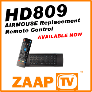 ZAAPTV HD809 Air Mouse Remote Control