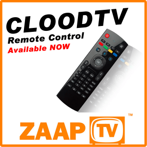 ZAAPTV CLOODTV Remote Control